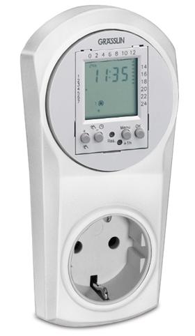 Schakelklok Grässlin Top 600 digitaal - 16 Ampere