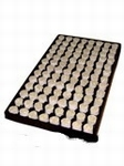 Paperplug  rond 34 mm. 84 pluggen per tray