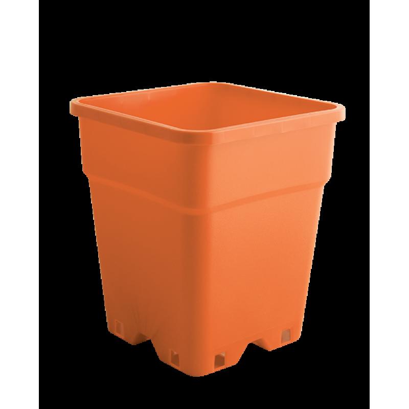 Plantcontainer 24x24x28,3 cm. 11 Liter oranje