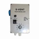 S- Vent Regeltrafo 1,5 Ampere met thermostaat